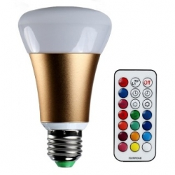 Lampadina LED 10 W E27 RGB+W con telecomando. Colore ORO