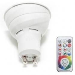 Lampadina LED MR16 GU10 3 W+3 W RGB+W con telecomando