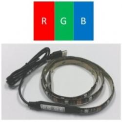 Striscia led flessibile siliconata 27 LED SMD 5050 90 cm. RGB