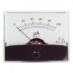 Amperometro con specchio 0-100 uA/DC