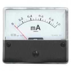 Amperometro 0-1 mA/DC