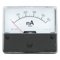 Amperometro 0-500 mA/DC