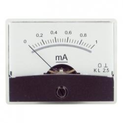 Amperometro con specchio 0-1 mA/DC