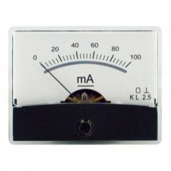 Amperometro con specchio 0-100 mA/DC