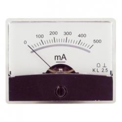 Amperometro con specchio 0-500 mA/DC