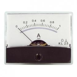 Amperometro con specchio 0-1 A/DC