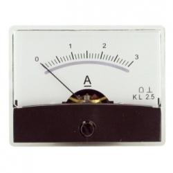 Amperometro con specchio 0-3 A/DC