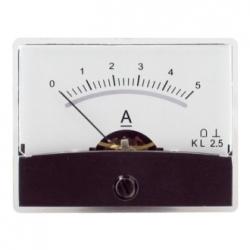 Amperometro con specchio 0-5 A/DC