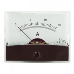 Amperometro con specchio 0-15 A/DC