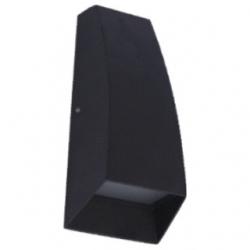 Applique da esterno a LED COB 3+3 W Bianco Freddo - Colore NERO