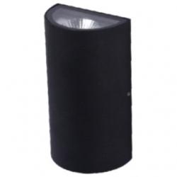 Applique da esterno a LED COB 5+5 W Bianco Caldo - Colore NERO