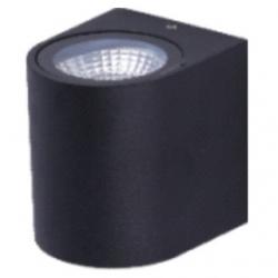 Applique da esterno a LED COB 3 W Bianco Caldo - Colore NERO