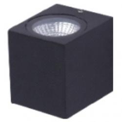 Applique da esterno a LED COB 3 W Bianco Freddo - Colore NERO
