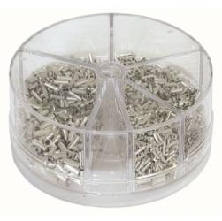 Assortimento terminali a punta non isolati 0,5-2,5 mm². 1.900 pezzi