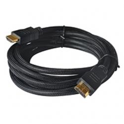 Cavo HDMI 1.4 spina/spina dorata 5 mt