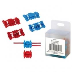 Connettore a morsetto rosso/blu set 10 pezzi
