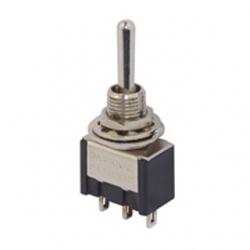 Deviatore miniatura unipolare a levetta da pannello (ON)-OFF-(ON)