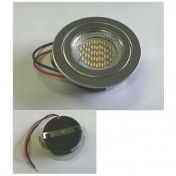 Faretto 12 V da incasso 50 LED SMD 3014 fisso Bianchi Caldi 3 W CROMATO