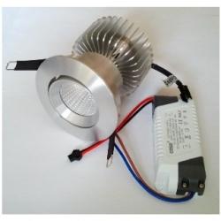 Faretto ARGENTO da incasso orientabile a Power LED 20 W Bianco Caldo
