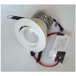 Faretto BIANCO da incasso orientabile a Power LED 10 W Bianco Caldo