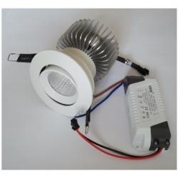 Faretto BIANCO da incasso orientabile a Power LED 20 W Bianco Caldo