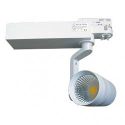 Faretto LED a binario orientabile 40 W Bianco Caldo