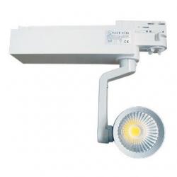 Faretto LED a binario orientabile 40 W Bianco Naturale