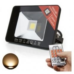 Faretto LED da esterno ultra sottile con sensore di movimento 20 W con telecomando
