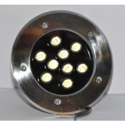 Faretto a LED da esterno calpestabile LED 9x1 W Bianchi Caldi