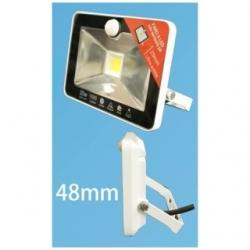 Faro a LED con sensore PIR 30 W sottile IP 44 Bianco Freddo