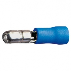 Faston cilindrico maschio 1,5-2,5 mm. Blu 50 pezzi