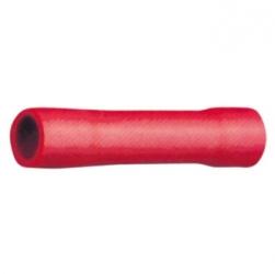 Faston di giunzione cilindrico 0,5-1,5 mm. Rossi 50 pezzi