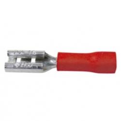 Faston isolati femmina 0,8 x 2,8 mm. Rossi 50 pezzi