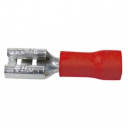 Faston isolati femmina 0,8 x 4,75 mm. Rossi 50 pezzi