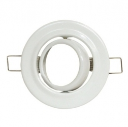 Ghiera per lampade alogene MR-16 orientabile Bianca