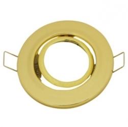 Ghiera per lampade alogene MR-16 orientabile Ottone