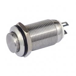 Interruttore in metallo 12 mm. testa piatta
