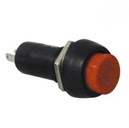 Interruttore a pulsante rotondo da pannello contatto chiuso Rosso