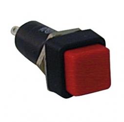 Interruttore a pulsante quadrato da pannello contatto chiuso Rosso