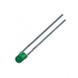 LED 3 mm. Verde 100 pezzi
