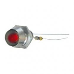 LED 3 mm. con ghiera Rosso 10 pezzi