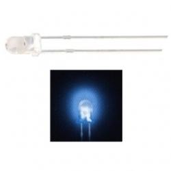 LED 3 mm. trasparente Blu 10 pezzi