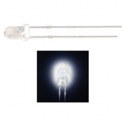 LED 3 mm. trasparente Bianco 10 pezzi