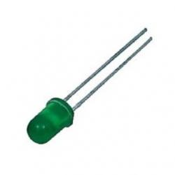 LED 5 mm. Verde 100 pezzi