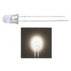 LED 5 mm. trasparente Bianco caldo 10 pezzi