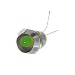 LED 6 mm. con ghiera Verde 10 pezzi