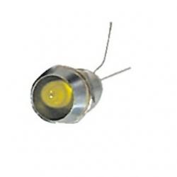 LED 6 mm. con ghiera Giallo 10 pezzi
