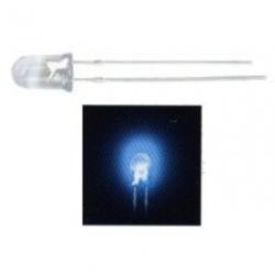 LED 5 mm. trasparente super luminoso Blu 50 pezzi