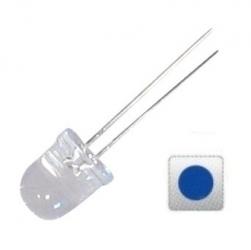 LED trasparente 8 mm. Blu 10 pezzi