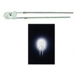 LED 3 mm. trasparente Bianco freddo 10 pezzi
